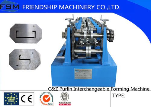Video of C&Z roll forming machine -C purlin part: