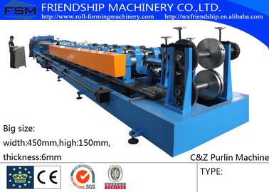 Big Size C Z Sigma Purlin Interchangeable Forming Machine with 3 profile adjustable