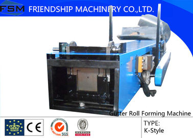 Aluminum / Color Steel Gutter Roll Forming Machine For Rain Spout / Water Pipe