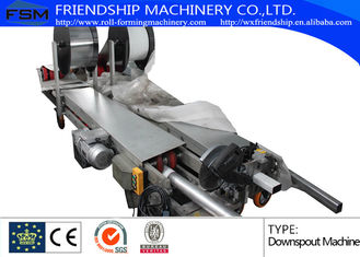 China 0.5-0.8mm Thickness Aluminum Material Round Down Pipe Roll Forming Machine Line With Flying Cutting supplier