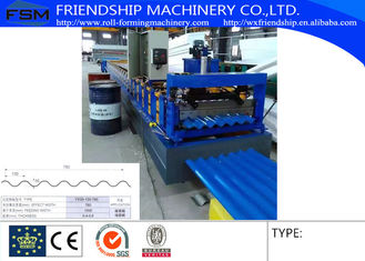 China High Speed Corrugated Sheet Roll Forming Machine Used 0.4-0.6mm Thickness Color Steel Used To Civilian Buildings supplier