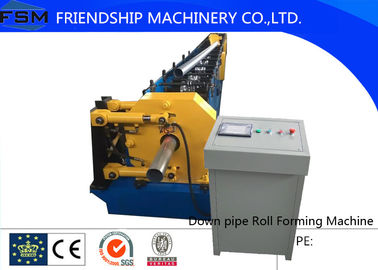 China High Quatily 80mm/100mm Round Down Pipe Roll Forming Machine With Hydraulic Cutting supplier