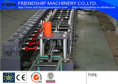 Working Speed Rack Roll Forming Machine , Galvanized Steel Material Of Coil