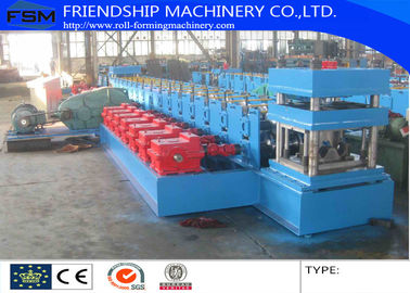 Gearbox Driven Guardrail Roll Forming Machine 17 Stations And Two Waves Roll Station Use 3 MM thickness