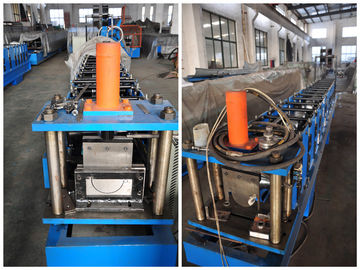 Durable 7.5Kw Aluminum Round Gutter Roll Forming Machine For Downspout