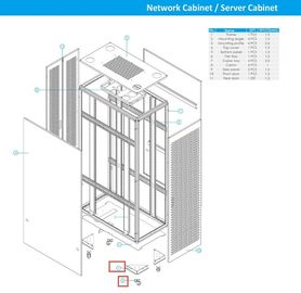 9 Folder Channel Steel Cabinet Frame Rack To Make Network Cabinet / Rack Cabinet
