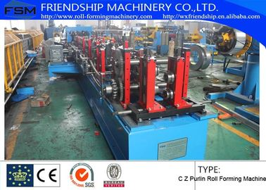 1.2mm - 3.0mm Thickness C Z Purlin Roll Forming Machine For Q195 - 235 / Hot-Zinc Coil