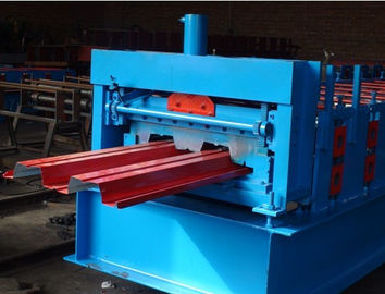 China 0.8mm - 1.2MM H Metal Deck Roll Forming Machine With 28 Stations supplier
