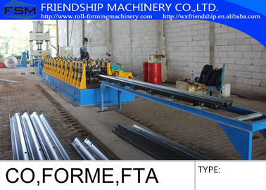 3MM Thickness Guard Rail Roll Forming Equipment Machine With Gearbox Drive Press Machine