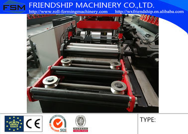 Gearbox Driven Two Waves Guardrail Roll Forming Machine Used 3 MM Thickness Steel