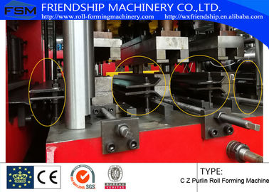 Automatic Hydraulic C Z Interchangable Purlin Roll Forming Machine With Pre - Punching And Motor Driven