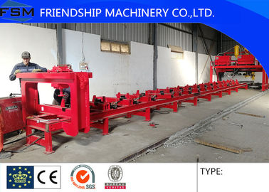 Semi Trailer Chassis Beam Welding Line Trailer Beam Hydraulic Assembly Table