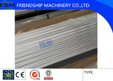 Corrugated Wave Hot Dipped Galvanized Steel Sheet , Corrugated Steel Sheet 800mm Width