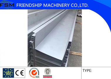 Galvanized / Aluminum Alloy / Stainless Steel Roof Gutter Bending For Building Materials