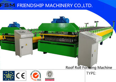 Automatic Motor Driven Colored Steel Roll Forming Machinery With Film Coating