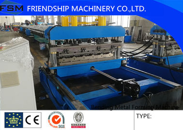 Hydraulic Color Steel Roof Bending Metal Forming Machines For 0.4 - 0.8mm Thickness
