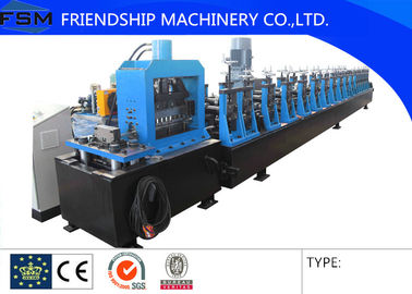 Photovoltaic Support Racking Roll Forming Machine With Gearbox Driven , Low Noise