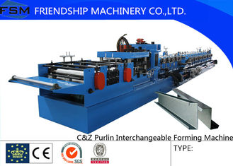 15KW Main Motor Steel C Z Purlin Roll Forming Machinery With 80-300mm