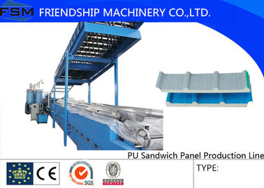 Continuously Automatic PU Sandwich Panel Production Line Two Tanks