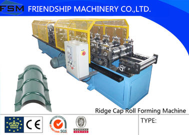14 Stations Ridge Cap Roll Forming Machine For Cinema / Theatre / Garden