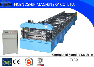 Automatic Corrugated Sheet Roll Forming Machine For 4 mm - 8 mm Steel Panel