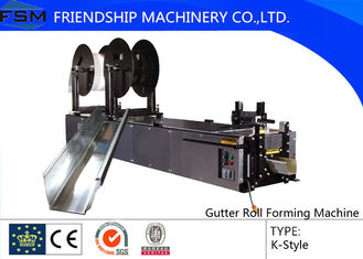"5"",6"",7"" K Type Gutter Roll Forming Machinery Use Copper Aluminium steel"