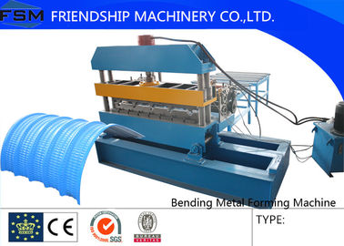 Slitter and Hydraulic Bending Metal Forming Machinery with Color Steel Panel