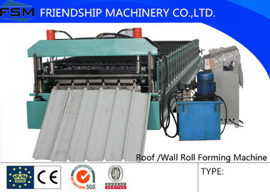 Roof Roll Forming Machinery 0-20m/min 7.5 KW Main Power And Siemens Control Panel