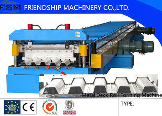 Metal Deck and Floor Deck Roll Forming Machine with 45# Steel Roller