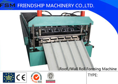 Roof Roll Forming Machinery 18 stations With 5 Tons De-coiler Single Chains