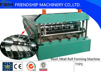 High Forming Speed 40m/min Roof Roll Forming Machinery With Color Coated
