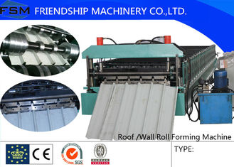 China PLC Control System 15m/min Roofing Roll Forming Machine With 18 Forming Stations supplier