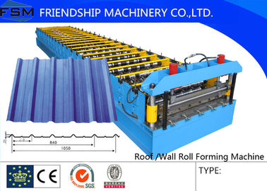 5.5KW DC Motor Roof Roll Forming Machinery With 21 Forming Stations
