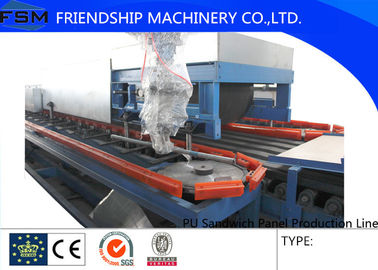 China 12000*12000mm PU Sandwich Panel Production Line With PLC Control System supplier