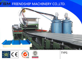 High Speed PU Sandwich Panel Line , Roll Forming Machinery