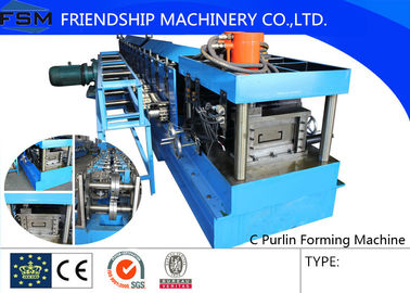 40mm - 80mm C Steel Purlin C Z Purlin Roll Forming Machine With Hydraulic Station