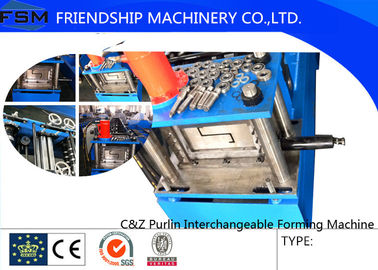 1.5mm - 3mm C Z Purlin Roll Forming Machine Automatic Control System