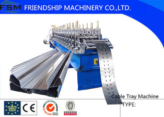 Cable Tray Roll Cutting Machine 10~15m/min Speed For 1-2mm Thickness Steel