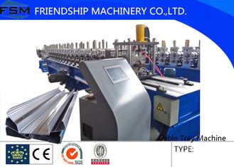 GCr15 Quench Treatment Roller Cable Tray Roll Forming Machine For 0.8mm - 2.0mm Thickness