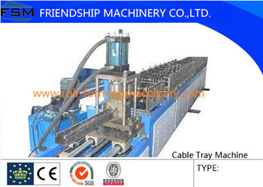 6 Tons Manual Cable Tray Roll Forming Machine 22 KW With 24 Forming Stations