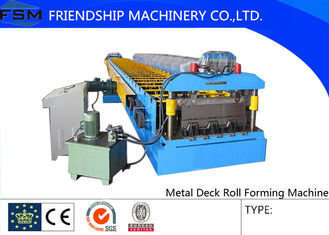 PLC Control System Metal Deck Roll Forming Machine With Hydraulic Station