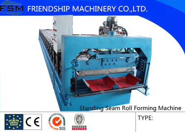 16 Steps Concealed Standing Seam Roll Forming Machine , Concealed , 3 Phase With Blade Cr12