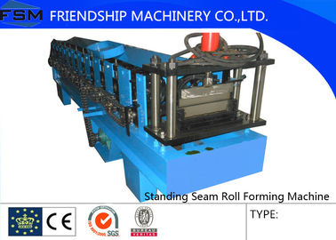 Galvanized Steel Standing Seam Roll Forming Machine With 45# Roller