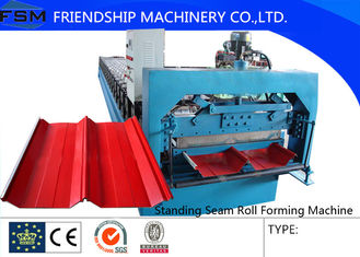 Color Steel Aluzinc Panel Standing Seam Roll Forming Equipment Hydraulic System