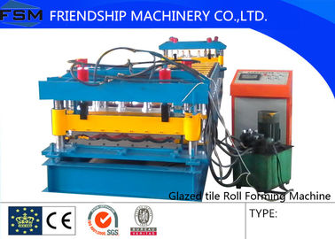 Speed 5m/min Roof Panel Glazed Tile Roll Forming Machine With 18 Forming Stations