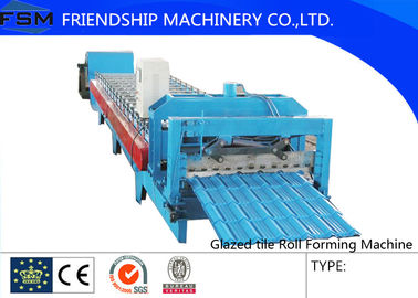Sheet Glazed Tile Roof Panel Roll Forming Machine Press Die Decoiler