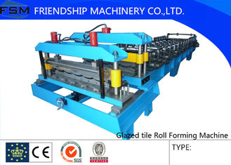 7.5 KW Stationary Glazed Tile Forming Machine , Plate Rolling Machine