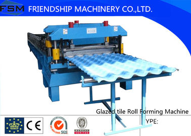 Corrugated Glazed Tile Roll Forming Machine For Modern Architecture Roofing