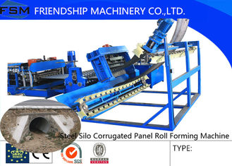 PLC Control Steel Silo Production Line Large Diameter 380V / 50HZ