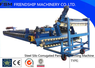 PLC Control 18 Stations Steel Corrugated Roll Forming Machine For Silo